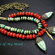 Coral Collision ~ Out of My Mind Necklace