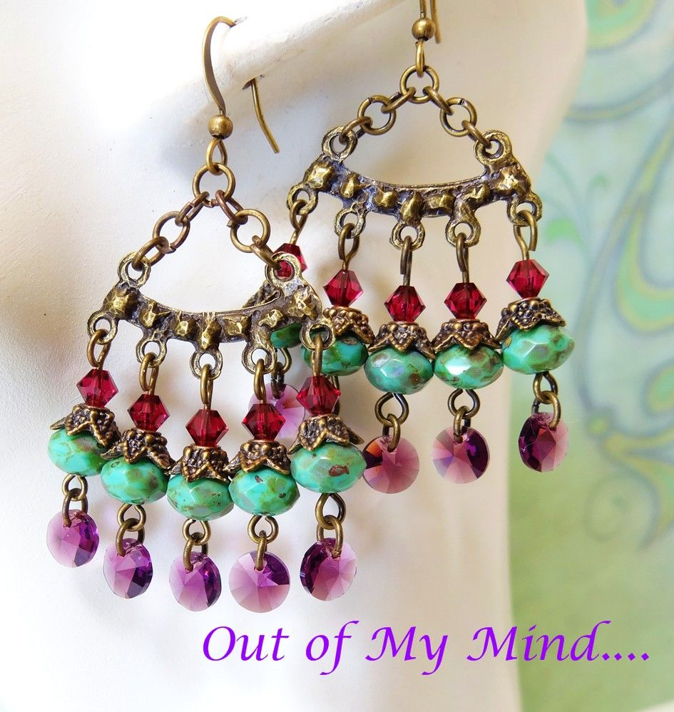 Picasso Fandango ~ Out of My Mind Earrings