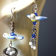 SOLD Anticipation ~ Out of My Mind Asymmetrical Earrings