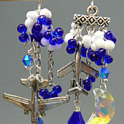 SOLD Fly Me to the Moon ~ Out of My Mind Asymmetrical Earrings