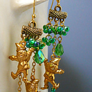 SOLD A Bit O' The Irish ~ Out of My Asymmetrical Earrings