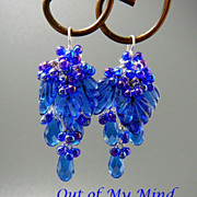 SOLD Blueberry Wine ~ Out of My Mind Earrings