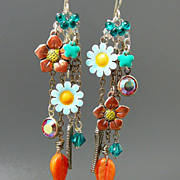 SOLD Trending Spring ~ Out of My Mind Asymmetrical Earrings