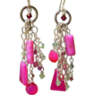 Fuchsia Heaven ~ Out of My Mind Asymmetrical Earrings