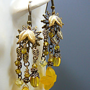 Sunshine Blooms ~ Out of My Mind Earrings