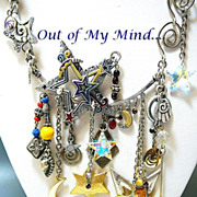 Starry Nights ~ Out of My Mind Charm Necklace