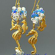 Simply Seahorses ~ Out of My Mind Asymmetrical Earrings