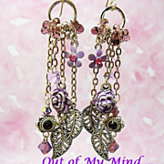 Sweet Lavender ~ Out of My Mind Earrings