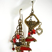 I 'Heart' My Ford! ~ Out of My Mind Asymmetrical Earrings