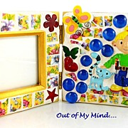 SOLD Bobbette ~ Out of My Mind Mosaic Frame