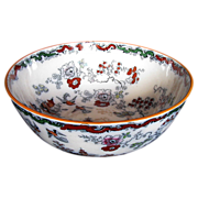 Mason's Ironstone Punch Bowl/Sideboard Bowl, Chinoiserie, Antique 19thC
