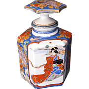 SALE Arita  Perfume Bottle Decanter,  Meiji Era, Antique 19thC Japanese Porcelain, Signed ...