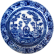 "Wedgwood Plate, ""Chinese Vase""/"" Blue Bamboo"" Transferware, Antique c1805"