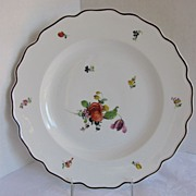 SALE Nymphenburg Plate, Alte Blumen Pattern,  Antique 19thC German Porcelain