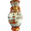 Kutani Vase, Family Boating Scene, Large, Japanese Antique Meiji Era