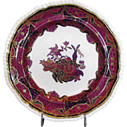 Spode Plate, Spode's Imperial,  Frog Pattern, Antique 19thC English