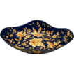 Rudolf Ditmar Majolica Lozenge Shaped Bowl, Cobalt/Gold, Antique 19thC Austrian