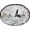 Kutani Large Tray,  Eagle Hunting,  Rare Black Color, Antique Japanese, Signed Yokohama Shimada