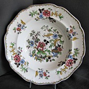 Zachariah Boyle Soup Plate,  Indian Plants, Antique English  c1825