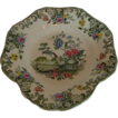 Spode Dessert Dish,  Vase & Flowers, Green Transferware,  New Fayence, Antique 19thC English