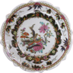Early Mason's  Ironstone Shaped Plate, Chinoiserie, Gilded Geese, Impressed Mark, c1820