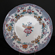Minton Plate, Floral Transferware, New Stone, Antique 19thC English