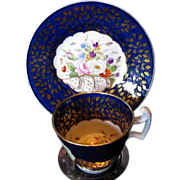 Minton First Period Cup & Saucer, Svres Mark, c1815, English