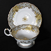 Coalport Cup & Saucer, Adelaide Shape, Antique c1835