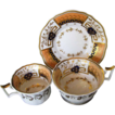 Yates Trio, Tea Cup, Coffee Cup & Saucer, Antique English Porcelain c1825