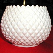 Irish Belleek Vase or Flower Pot, Diamond Quilted, 3rd  Black Mark