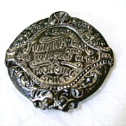 Advertising Pocket Mirror, Munsingwear Underwear Embossed Pot Metal