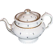 Minton Teapot, Bone China, Antique c1825, Handpainted,  English