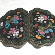 Japanese Cloisonne Buckle for Belt or Cape, Meiji, Antique 19thC