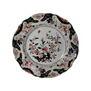 John Ridgway Plate, English Chinoiserie, Constantia Transferware Pattern, Antique c1835