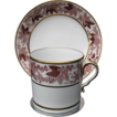 Spode Coffee Can & Saucer, c1810, Kicked Handle, Antique English Porcelain
