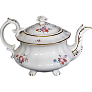 Hilditch Teapot on 4 feet, Study Piece, AS IS, Antique 19thC English  Porcelain