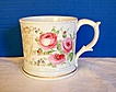 English Presentation Mug, Large, Hand Painted Porcelain, Antique dated 1860
