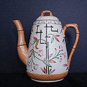 Aesthetic Movement Coffee Pot, Bamboo & Trellis, Antique 19thC English  Brownhills