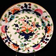 SOLD Coalport Plate, John Rose Feltspar Porcelain, Antique 19thC English Imari