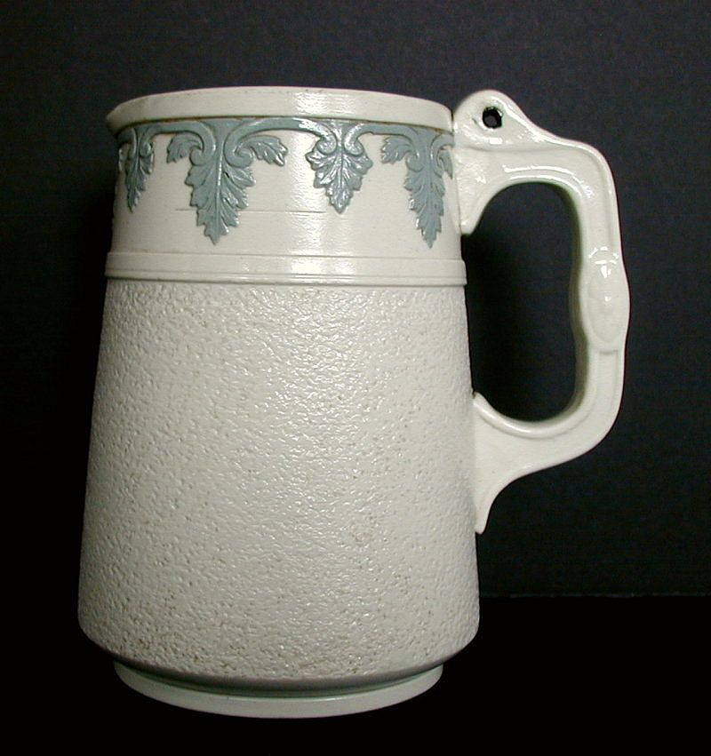 English Stoneware Jug, Antique 19thC, Signed Brownfield