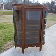 Oak Mission Style China Cabinet