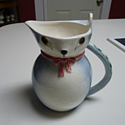 Art Pottery Mouse Pitcher