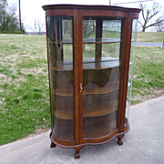 Oak China Cabinet Curio