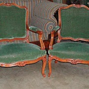 SALE PENDING Lovely Pair of Louis XV Style Fauteuils