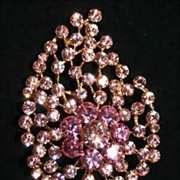 Pretty in Pink Rhinestone Brooch