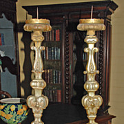 Pair of Italian Gilt Candlesticks