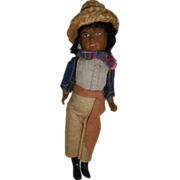 "10 1/2"" Painted Bisque Head Mexican Souvenir Doll"