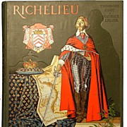 "Antique French Book ""Grand Format"", ""Richelieu"" circa 1904"