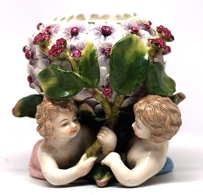 Porcelain Vase with Cherubs