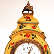 SOLD Hand-Painted Vernis Martin French Boule Table Clock